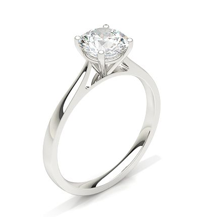 a simple diamond solitaire engagement ring.