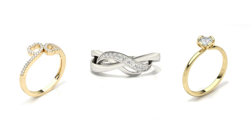 fashionable promise rings